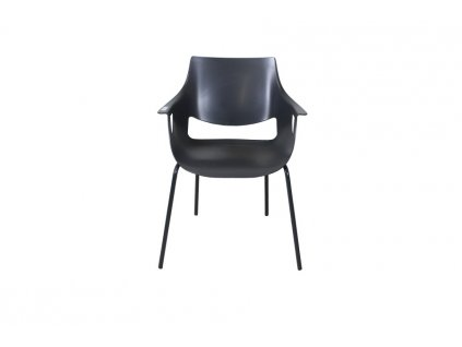 Jídelní židle, plastová, černá
