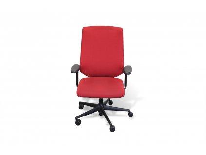 Židle kancelářská, Vitra MedalPal, červená, područky
