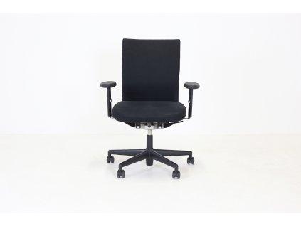 Židle Vitra Axess, černá, synchro, područky, černá