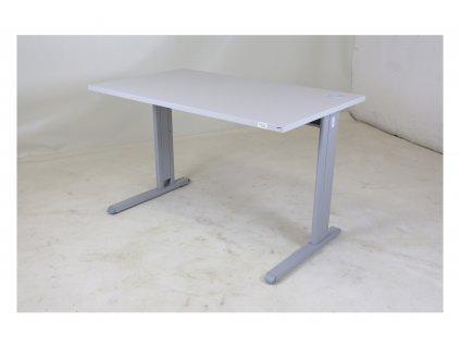 Stůl, 120x70, šedá, průchodka, vrut