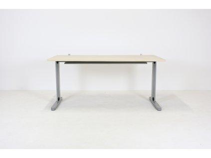 Stůl, DVD, 160x80x74, javor/šedá, kabelová vana