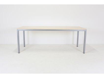 Stůl konfer. , DVD, 210x90x74, javor/šedá, rámová podnož, Jäkl