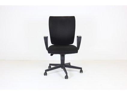 Židle kancelářská, LD-Lyra, černá, područky, synchro.m.