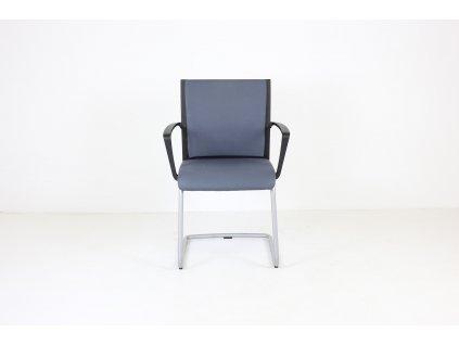 Židle konferenční, SteelCase, šedá/černá, područky
