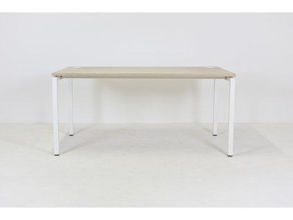 Stůl kancelářský , Narbutas, 160x80, běl. dub/bílá