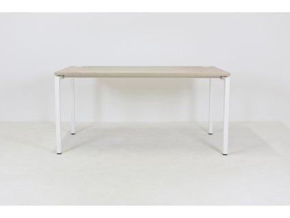 Stůl kancelářský , Narbutas, 120x80, běl. dub/bílá