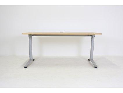 Stůl Steelcase Werndl, 160x80, apple/šedá