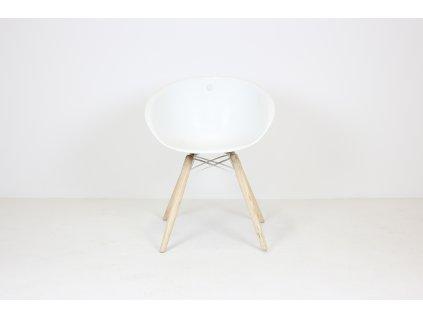 Židle jídelní, Pedrali, bílá/dub masiv