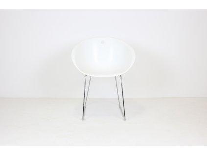 Židle jídelní, Pedrali, bílá/chrom