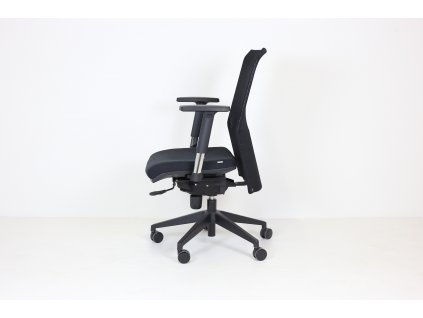 Židle, Peška, područky, synchro.m., výškově stav. nast. hloubky sedáku, černá, síť záda
