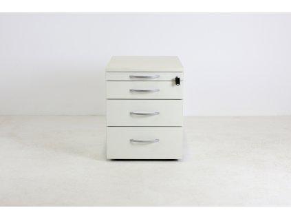 Kontejner, Kinnarps, 53x59x42, bílý, tužkovník, kolečka