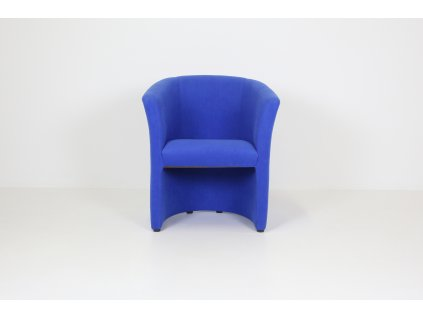 Křeslo Club, semiš - modrá