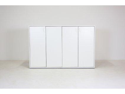 Skříň, Techo, 107x160x47, bílá, květináč, police, zámek