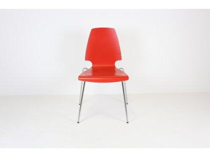 Židle jídelní, Ikea, černá, překližka/chrom