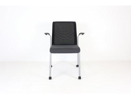 Židle konferenční, Steelcase, černá, síť. záda, područky