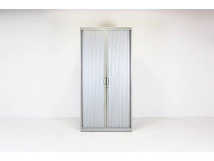 Skříň, Steelcase, 6OH, 200x120x43, kov, šedá, žaluzie, police, zámek, OBLÁ