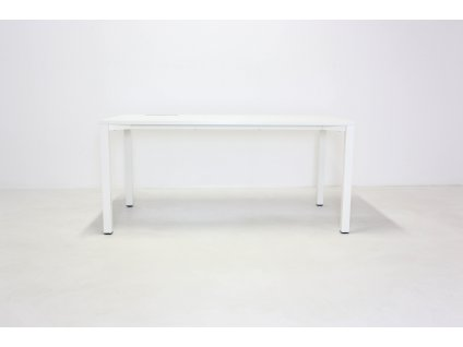 Stůl rovný, ALFA 200, 160x80, bílá/bílá