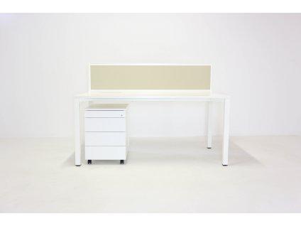 Set: Stůl Alfa 160x80 + kontejner + paraván