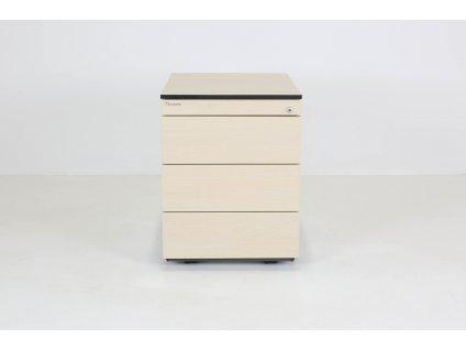 Kontejner, Neudoelfler, v56x43x60, akácie/šedá, kolečka