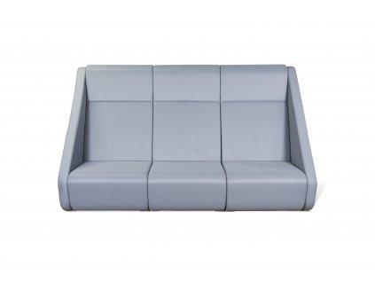 Sofa, LDseating, v145x245x90, šedá, látka, trojsedák
