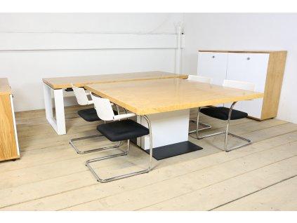 Set: Stůl manažer, 240x100, konferenční stůl, skříňky, Neudoelfler
