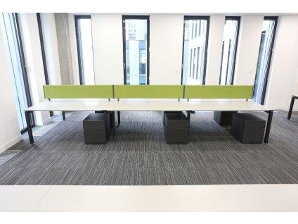 Stůl HM, 6-pracoviště, 480x160, šedá/granit, paravány