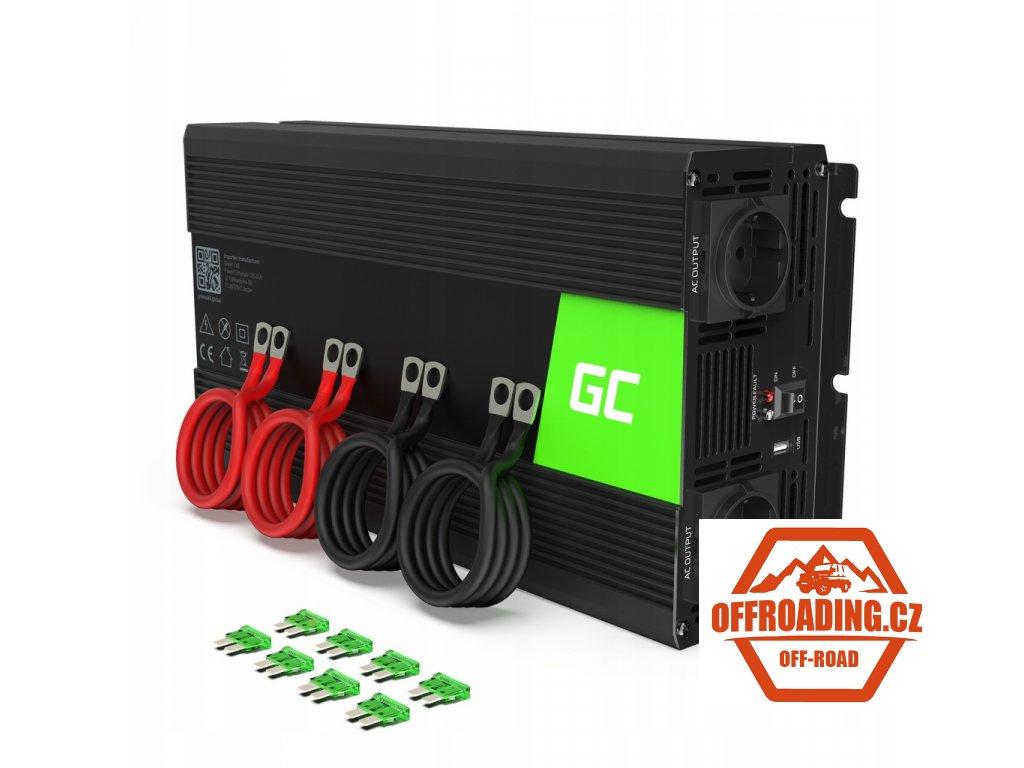 Przetwornica Inwerter Green Cell 12V 230V 4000W
