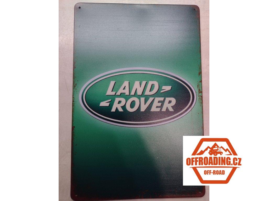 Plechová dekorační Cedule Land Rover