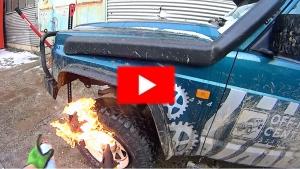 Nastřelení pneu bez vercajku