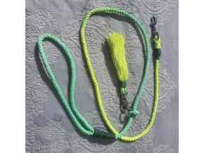 Vôdzka zeleno neonové ombre pre psa do 7 kg  dĺžka1,2m