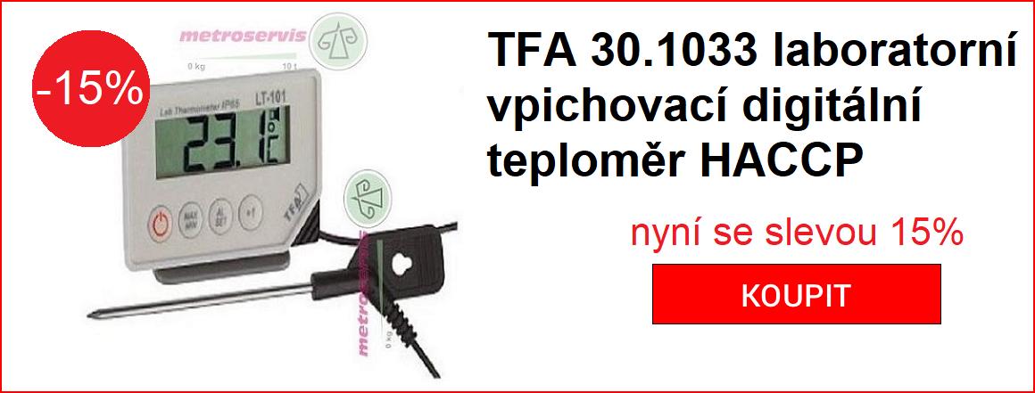 TFA 30.1033 LABORATORNÍ VPICHOVACÍ DIGITÁLNÍ TEPLOMĚR HACCP sleva 15%