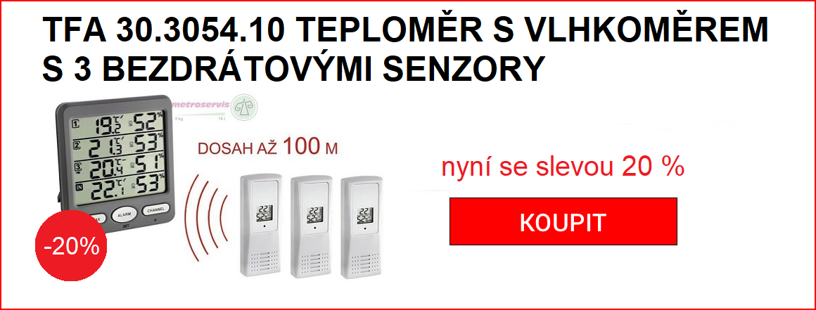 TFA 30.3054.10 teploměr se senzory sleva 20 %