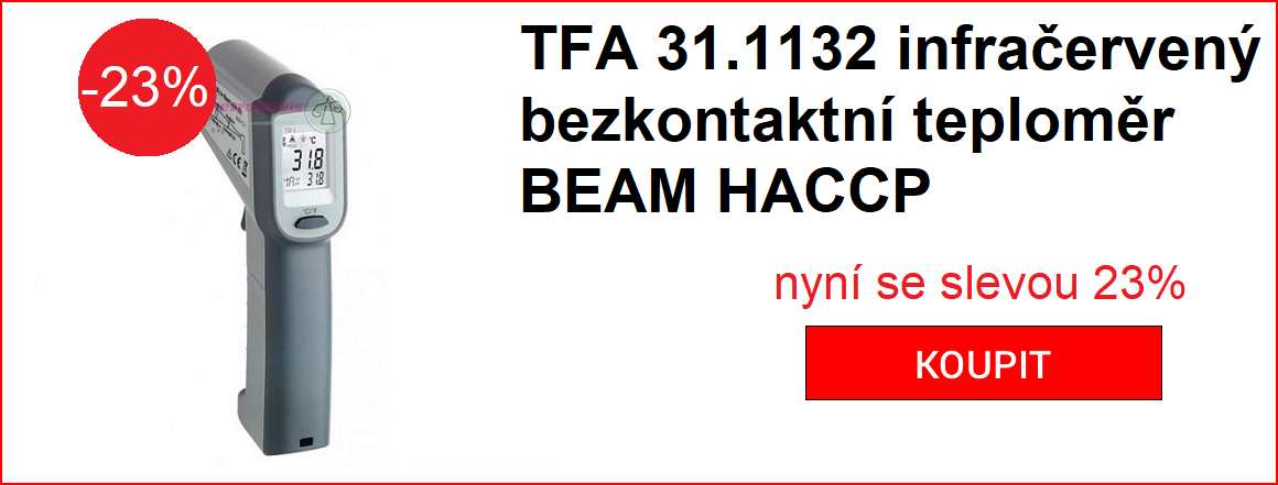 TFA 31.1132 INFRAČERVENÝ BEZKONTAKTNÍ TEPLOMĚR BEAM HACCP -23%