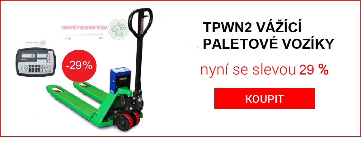 TPWN2 vážící paletový vozík sleva 15 %