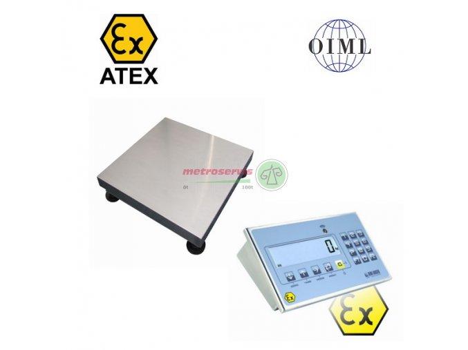 11T3030LNDINDFWLKI3GD006, 6 kg / 2 g, 300 mm x 300 mm Můstková váha do výbušného prostředí