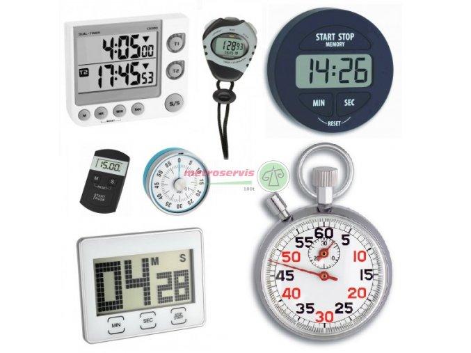 Kalibrace stopek, minutek, časovač