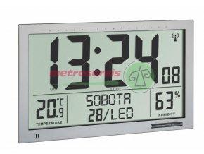 TFA 60.4517.54 nástěnné DCF hodiny s teploměrem a vlhkoměrem