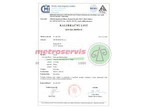 Kalibrační list boxů na závaží, 2 kusy 26 kg 1