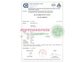 Kalibrační list závaží 50 kusů, 20 kg 1