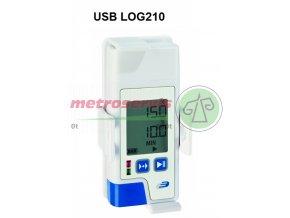 USB Datalogger s displejem pro měření teploty, vlhkosti s PDF výstupem TFA 31.1058.02 LOG210