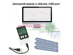 Datalogger pro měření teploty a vlhkosti T113, USB propojení