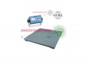 Půjčovna podlahových vah 3000 kg - týden - ověřené váhy