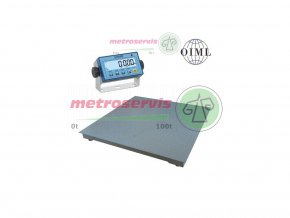 Půjčovna podlahových vah 1000 kg - měsíc - kontrolní váhy