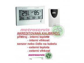 Akreditovaná kalibrace teploty a vlhkosti 2x