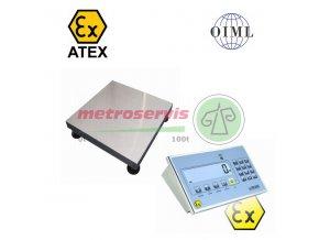1T3030LNDINDFWLKI3GD015, 15 kg / 5 g, 300 mm x 300 mm Můstková váha do výbušného prostředí