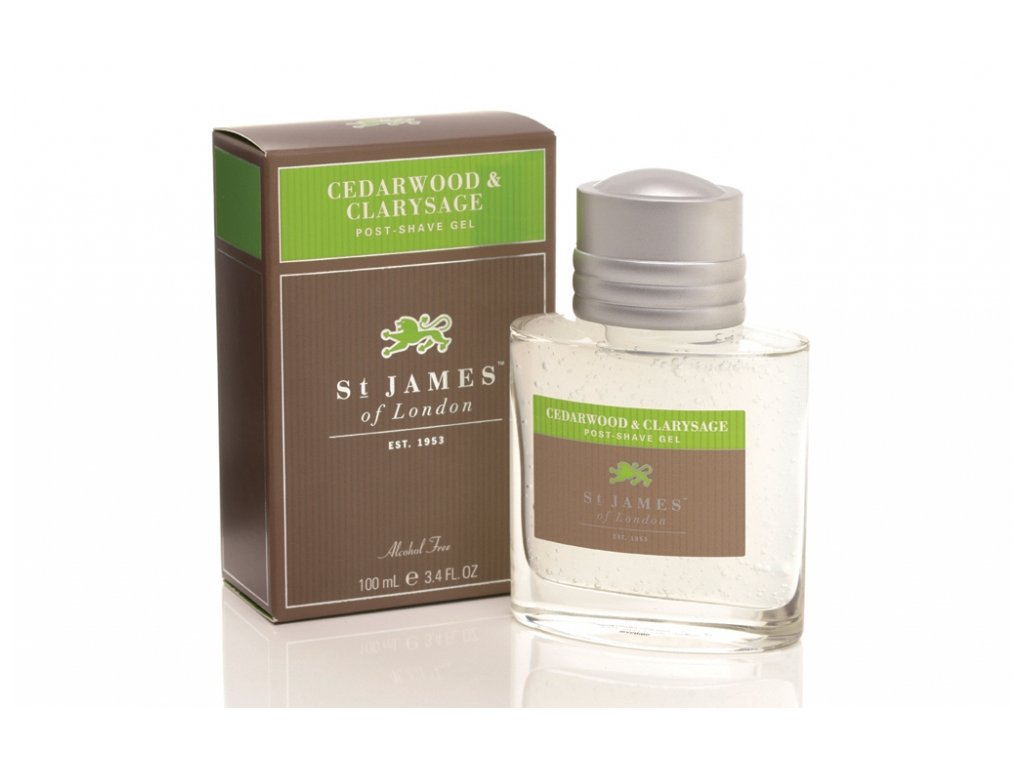 Gel po holení Cedarwood & Clarysage St James of London 100 ml