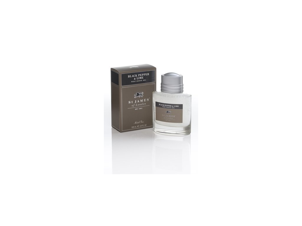 Gel po holení St James of London Black Pepper & Lime 100 ml