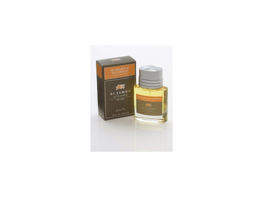 Olej před holením Mandarin & Patchouli St James of London 50 ml