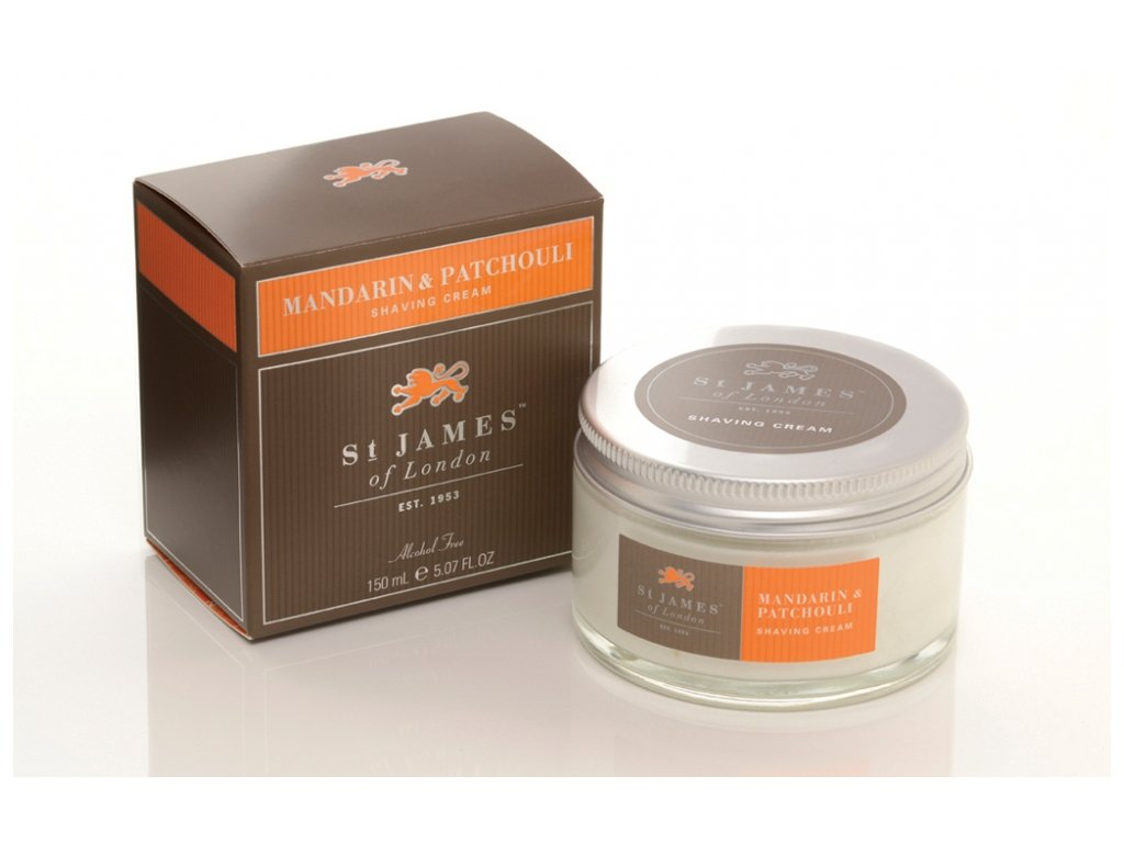Krém na holení Mandarin & Patchouli St James of London 150 ml