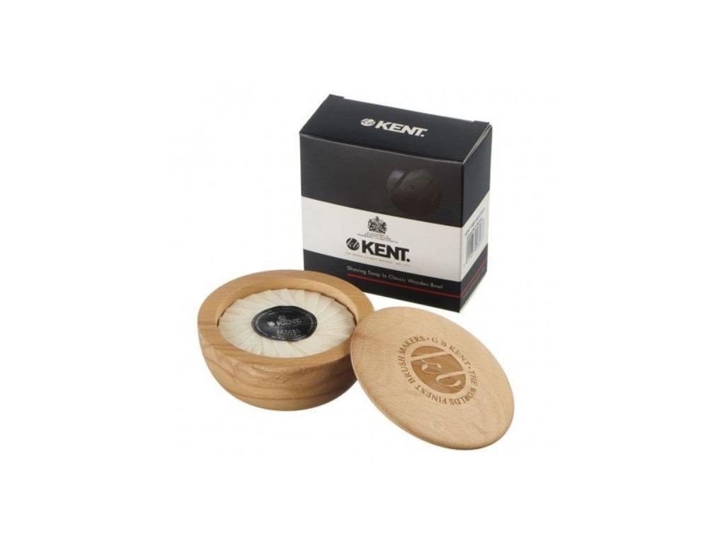 mydlo na holeni s drevenou miskou kent 2